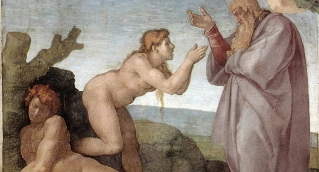 Michelangelo,_Creation_of_Eve_01 cropped